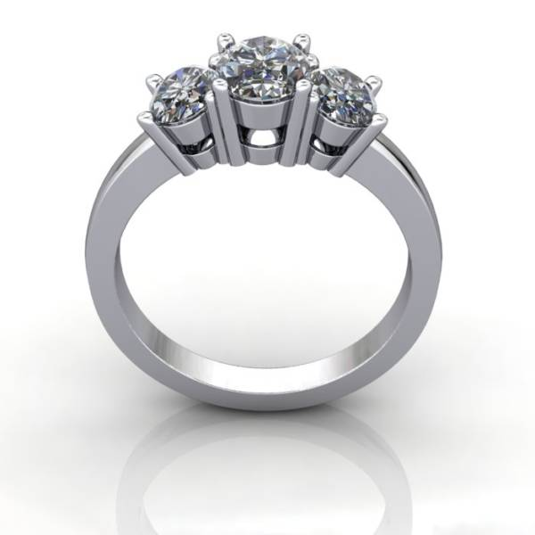 Multi stone Diamond Ring, PDM2, White Gold, TF