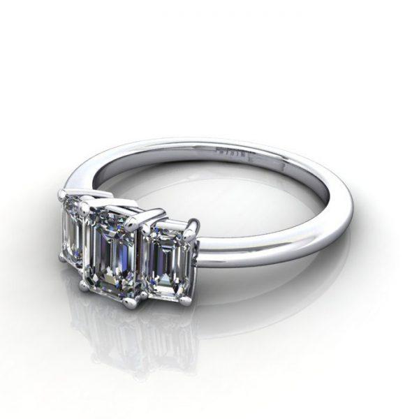 Multi stone Diamond Ring, PDM3, White Gold, LF