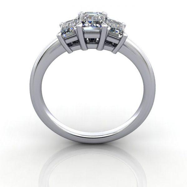 Multi stone Diamond Ring, PDM3, White Gold, TF