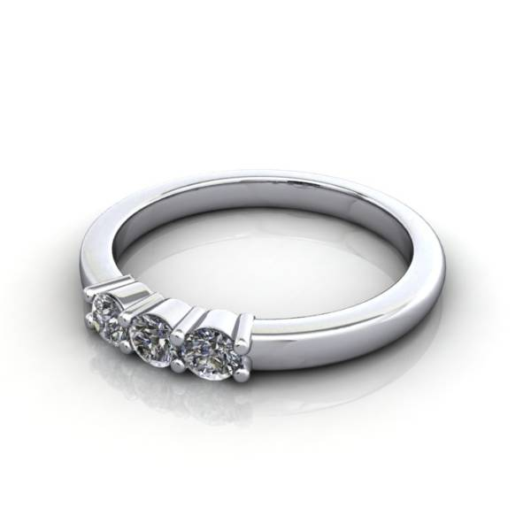 Multi stone Diamond Ring, PDM4, White Gold, LF