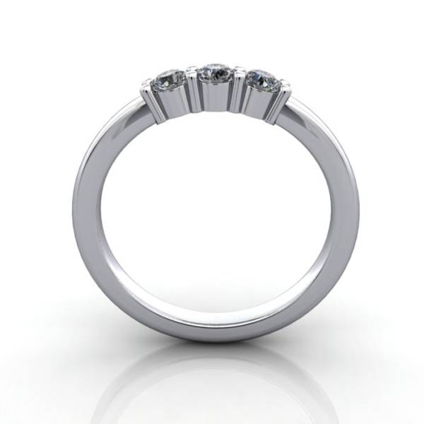 Multi stone Diamond Ring, PDM4, White Gold, TF