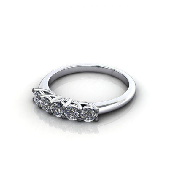 Multi stone Diamond Ring, PDM5, White Gold, LF