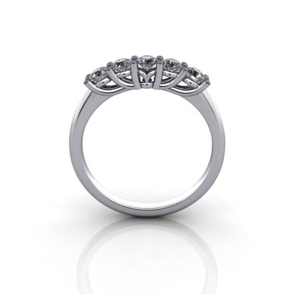 Multi stone Diamond Ring, PDM5, White Gold, TF