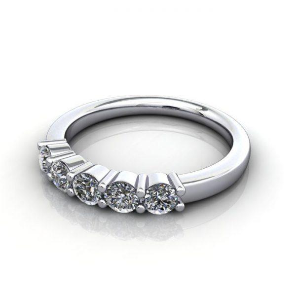 Multi stone Diamond Ring, PDM6, White Gold, LF