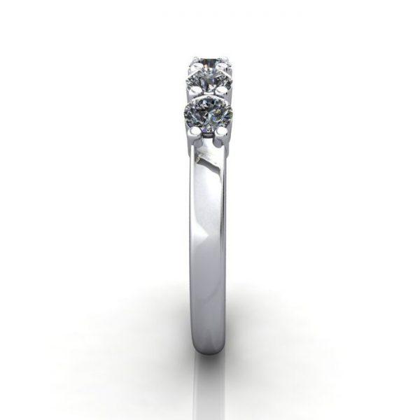 Multi stone Diamond Ring, PDM6, White Gold, SV