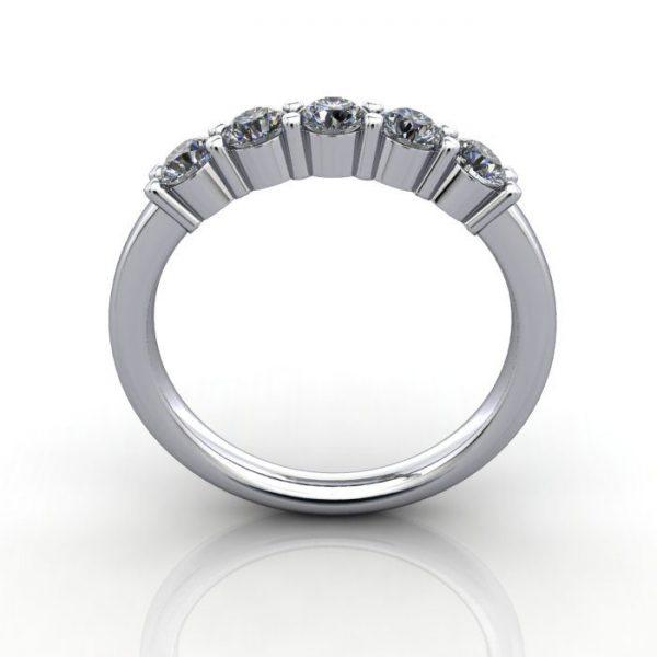 Multi stone Diamond Ring, PDM6, White Gold, TF