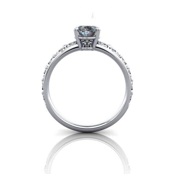 Vintage Ring, RV1, White Gold, BE