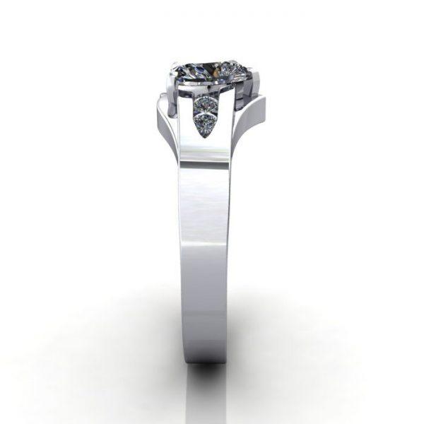 Engagement Ring, White Gold, Heart shape diamond, RSA5, SV