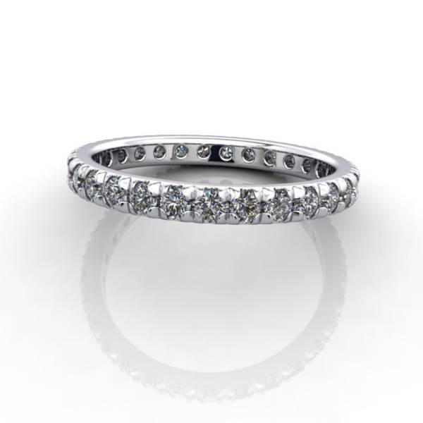 Eternity Ring, RE2, White Gold, Round Brilliant Diamond, LF
