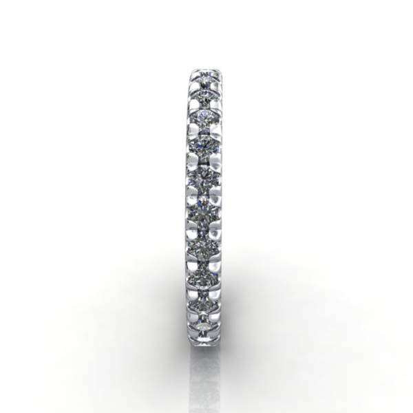 Eternity Ring, RE2, White Gold, Round Brilliant Diamond, SV