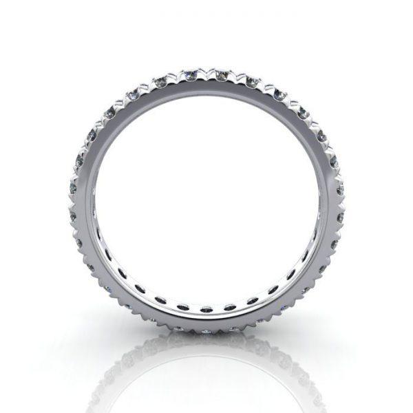 Eternity Ring, RE2, White Gold, Round Brilliant Diamond, TF