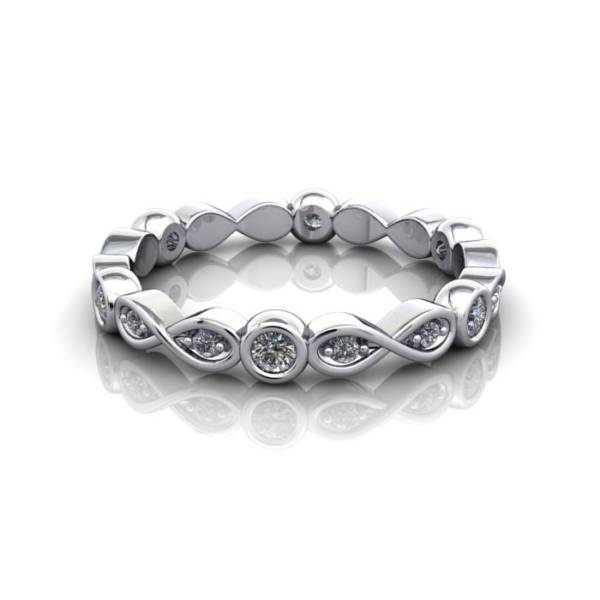 Eternity Ring, RE3, White Gold, Round Brilliant Diamond, LF