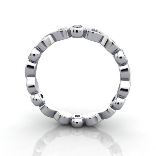 Eternity Ring, RE3, White Gold, Round Brilliant Diamond, TF