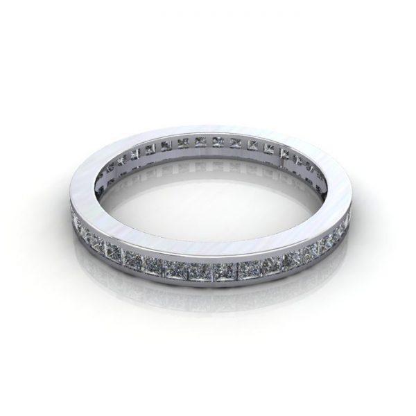 Eternity Ring, RE4, White Gold, Princess Cut Diamond, LF