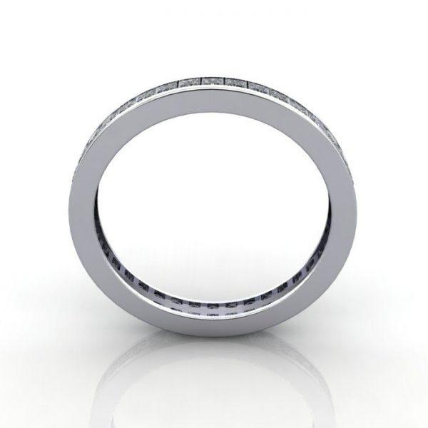 Eternity Ring, RE4, White Gold, Princess Cut Diamond, TF