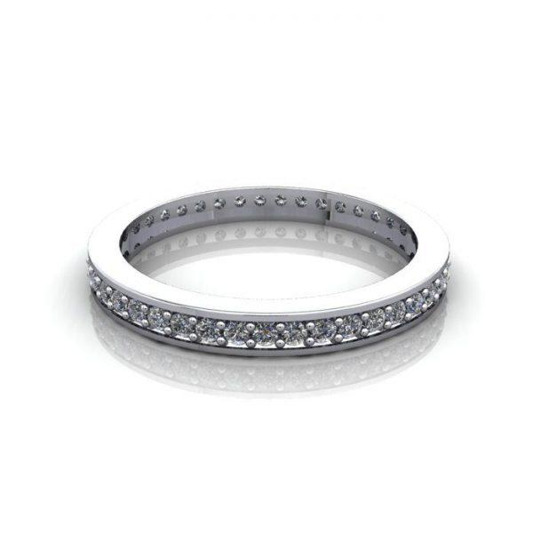 Eternity Ring, RE5, White Gold, Round Brilliant Diamond, LF