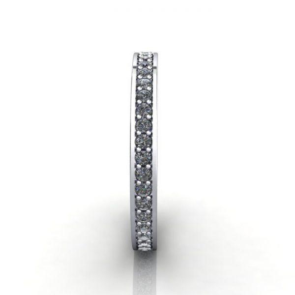 Eternity Ring, RE5, White Gold, Round Brilliant Diamond, SV