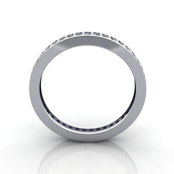Eternity Ring, RE5, White Gold, Round Brilliant Diamond, TF