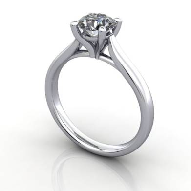 Diamond Ring, RS41,White Gold, 3D