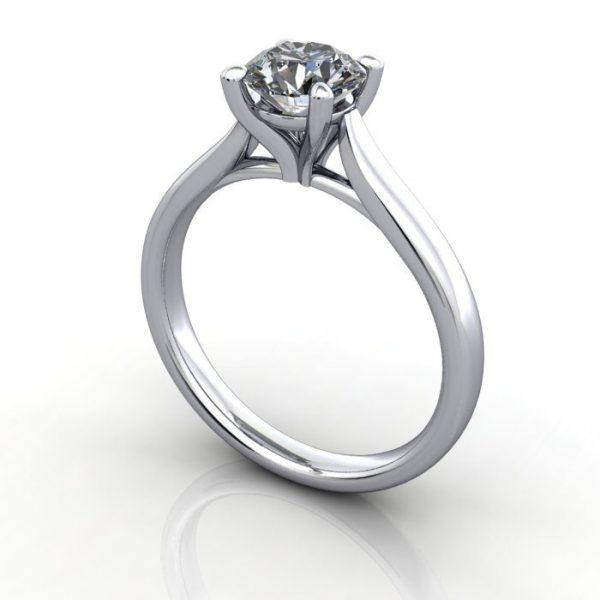 Diamond Ring, RS41,White Gold, 3D