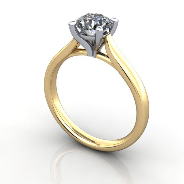 Diamond Ring, RS41,Yellow Gold,3D