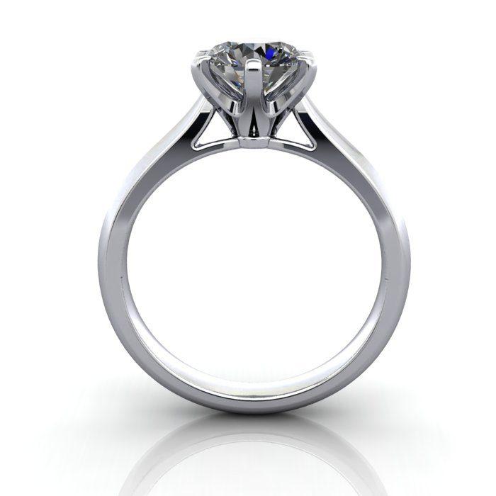 Solitaire Engagement Ring, Round Brilliant Diamond, RS21, Platinum, TF