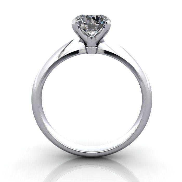 Diamond Engagement Ring, Round Brilliant Diamond, RS22, Platinum, TF