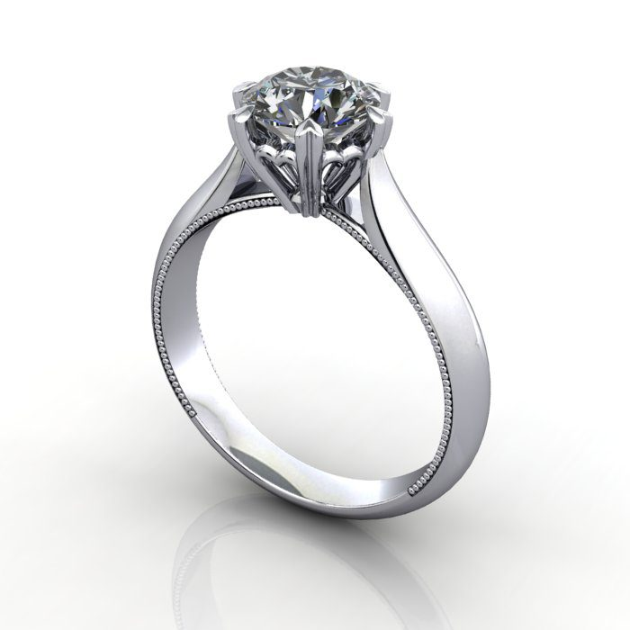 Solitaire Engagement Ring Rs26 Polished Diamonds Nz