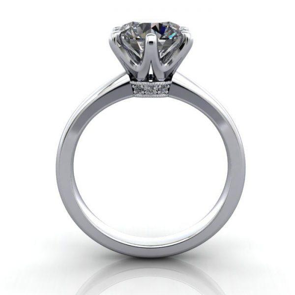 Solitaire Engagement Ring, Round Brilliant Diamond, RS26, Platinum, TF
