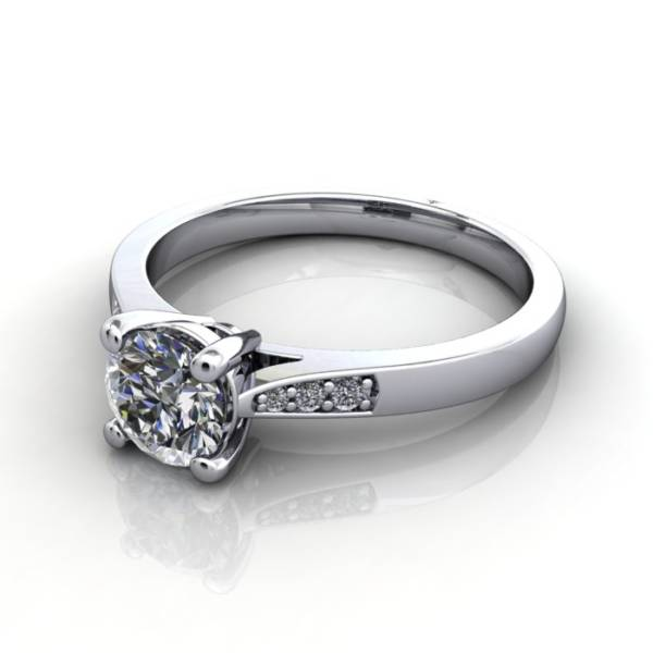 Solitaire White Gold RS17 LF