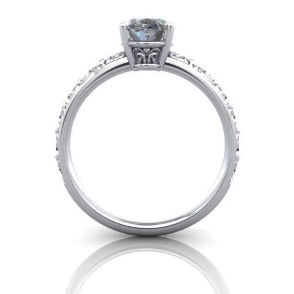 Vintage Ring, RV1, Platinum, BE