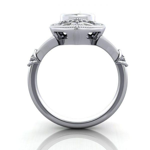 Vintage Ring, RV5, Platinum, TF