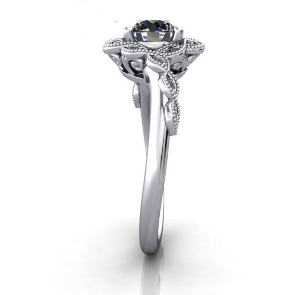 Vintage Ring,Round,RV6,Platinum,SV