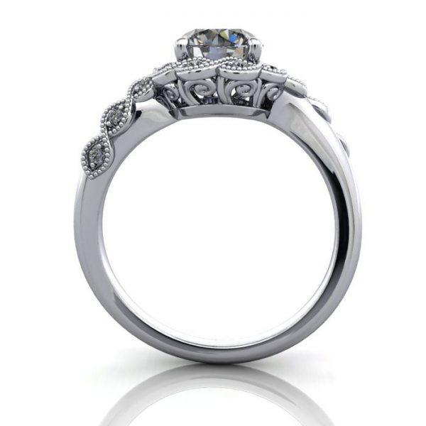 Vintage Ring,Round,RV6,Platinum,TF