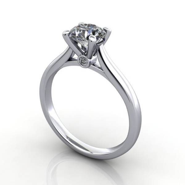 Diamond Solitaire RS45 Round Platinum 3D