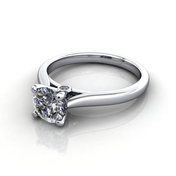 Diamond Solitaire RS45 Round Platinum LF