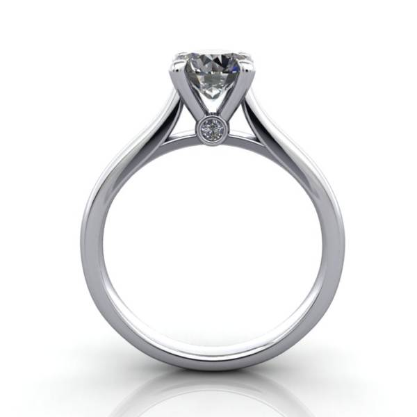 Diamond Solitaire RS45 Round Platinum TF