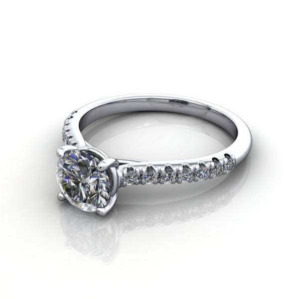 Diamond Solitaire RSA44 Round Platinum LF