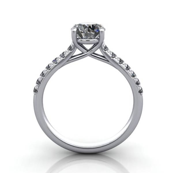 Diamond Solitaire RSA44 Round Platinum TF