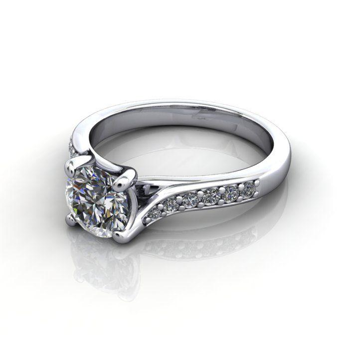 Diamond Solitaire RSA10 Round Platinum LF
