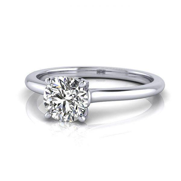Engagement Ring RS1, Round, Platinum, LF