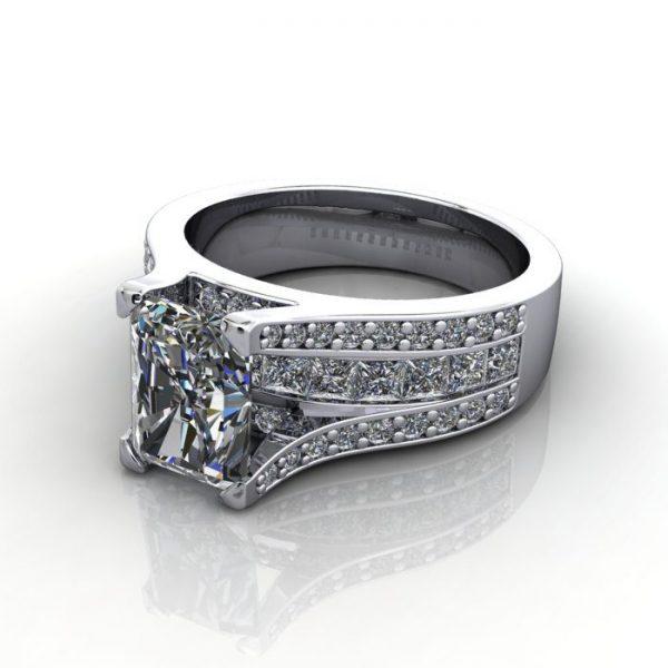MultiStone Diamond Ring, PDM1, Platinum, LF