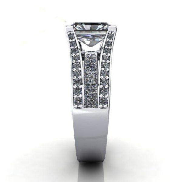 MultiStone Diamond Ring, PDM1, Platinum, SV