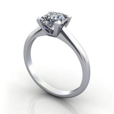 Solitaire-Engagement-Ring-Princess-Cut-Diamond-RS33-Platinum-3D