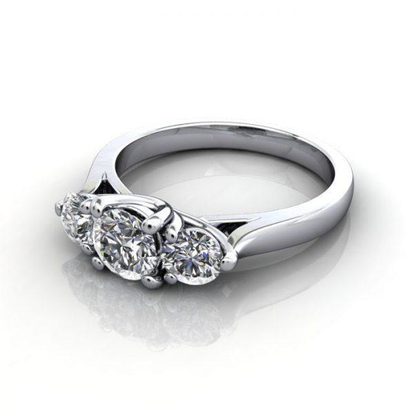 Trilogy Diamond Ring, RT1, Platinum, LF