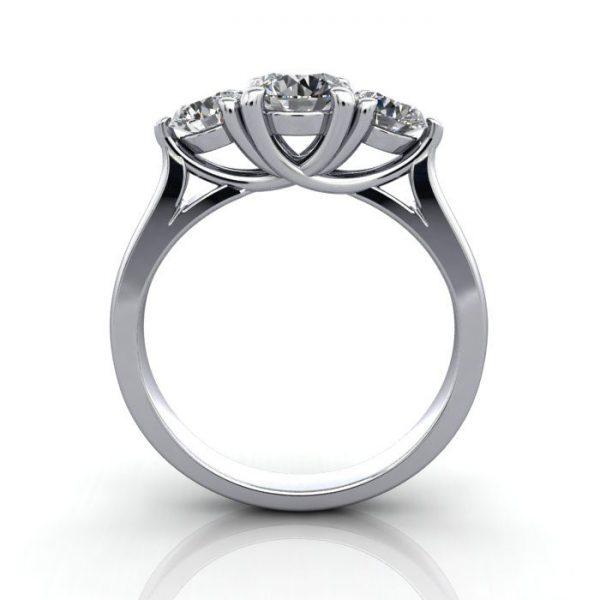 Trilogy Diamond Ring, RT1, Platinum, TF