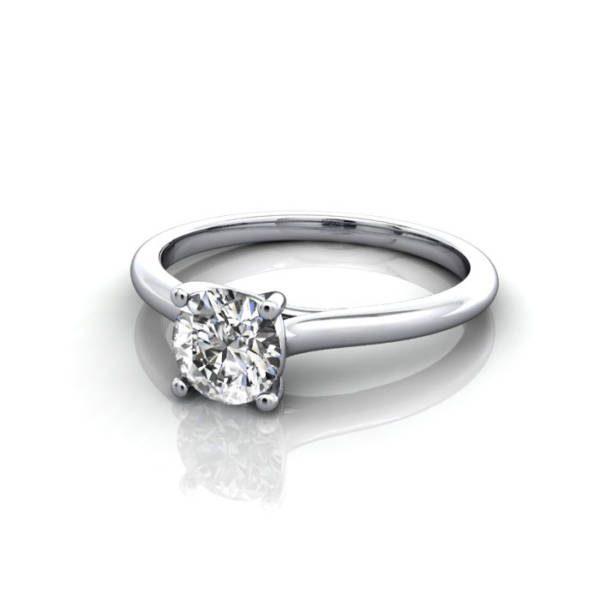 Engagement Ring, Round Brilliant, RS16, Platinum, LF