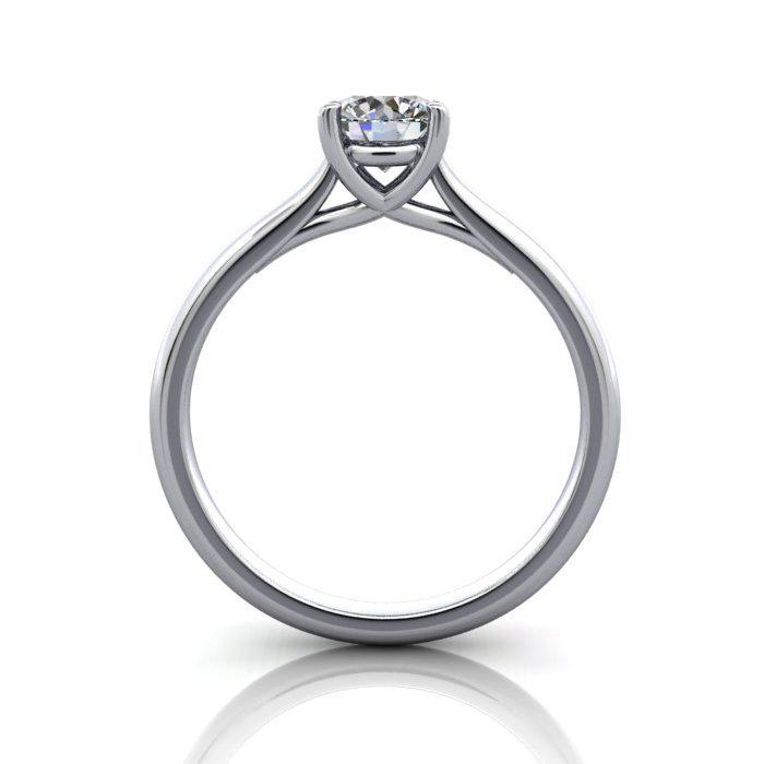 Engagement Ring, Round Brilliant, RS16, Platinum, TF